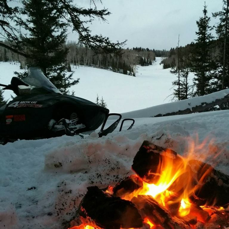 snowmobile fire